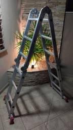 Escada articulada alumínio (Seminova)