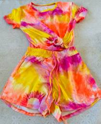 Conjuntos e vestidos tie dye preço fábrica vendo lote todo