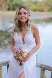 Vestido de noiva praia / campo