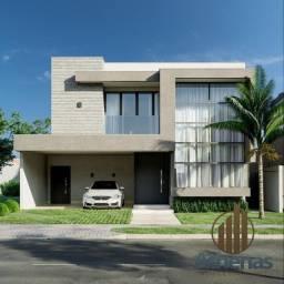 Sobrado no condomínio Belvedere com 270 m² e 4 suítes, em construção