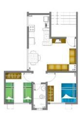 Apartamento de 2 quartos ao lado da Univag, região do Cristo Rei