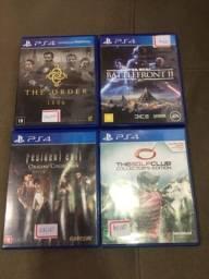 Vendo jogos de play 4