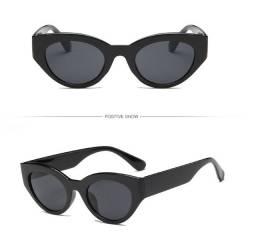 Óculos De Sol Retro Gatinho Lente Armação Preto Turtle