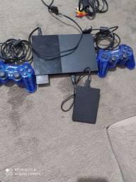 Play 2 com HD externo