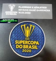 Kit Patch Supercopa Do Brasil 20 Flamengo