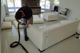 Limpeza e higienização de estofados - limpeza a seco
