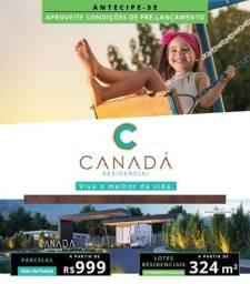 Terreno 324m² Zero de Entrada e Parcelas de$999 Condomínio Canada Araras