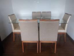 Mesa 6 cadeiras tampo de vidro de 10mm!!