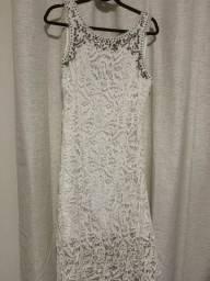 Vestido Renda Guipir-Lelis Blanc
