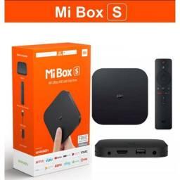 Xiaomi Mi Box S 4k Android Tv Global Original Lacrada - Loja Natan Abreu