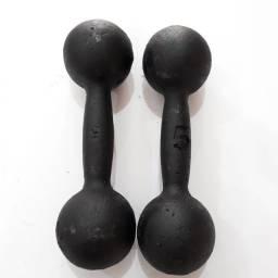 Par De Halteres Pintado De Ferro 5kg - R$79,90