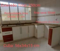 Título do anúncio: Pia Cozinha + Cuba Inox + Gabinete MDF