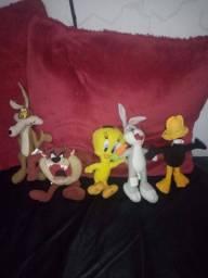 Pelúcias Looney Tunes (coleção com cinco unidades)