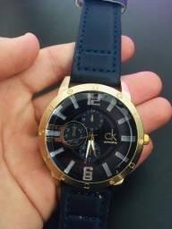 *Novo* Relógio CK Dourado Steel Back Stainless