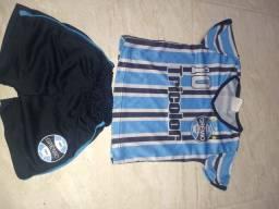 Uniforme Grêmio infantil tam. 1