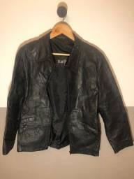 Jaqueta de Couro Legítimo em perfeito estado - preta