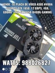 Placa de vídeo GTX 1650 super GeForce tudo gaming