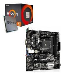 Título do anúncio: Kit placa mãe  Asus A320m-hd + processador Ryzen 5 1600 + CoolerMaster Hyper TX3 Evo