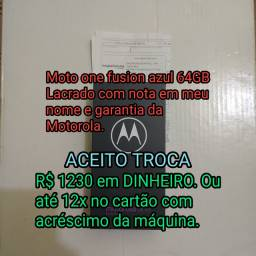 Moto ONE FUSION 64GB azul Lacrado c/NF e garantia