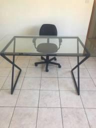 Mesa de escritório de vidro 1.40 X 70