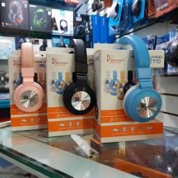Fone Bluetooth Headphone (SD, AUXILIAR, FM)