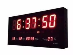Relógio De Parede Led Digital Grande Termômetro 46cm*22cm