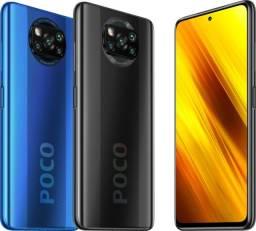Xiaomi Poco X3 128/64 gb global lacrados com garantia passamos cartão