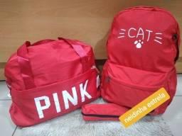 Título do anúncio: Kit de mala + bolsa + estojo.