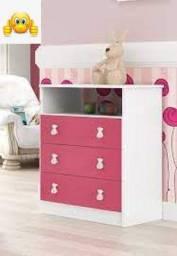 comoda infantil branco/rosa CM120 DJD