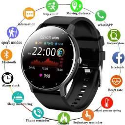 LIGE 2021 Relógio inteligente esporte fitnes IP67 à prova d'água Bluetooth Android ios