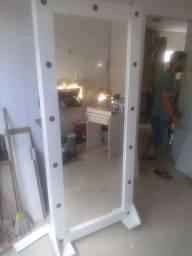 Espelho camarim com base removível