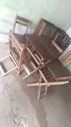 Conjunto de mesas madeira