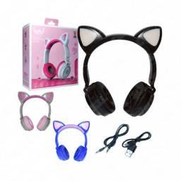 Título do anúncio: Fone de Ouvido Arco Headphone Bluetooth Orelha de Gato c/ Led (A-800)