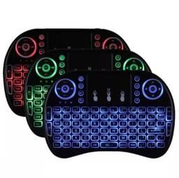Mini Teclado Keyboard Sem Fio Wireless Iluminado Smart Tv/Tv Box/PC