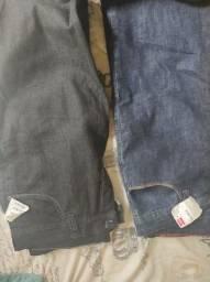 Título do anúncio: 2 calças jeans confort Cristal Graffiti