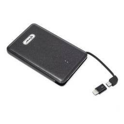 Bateria Externa Power Bank 5000mAh KP-PB03 Knup USB + Adaptador Iphone + cabo Slim