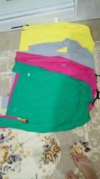 Kit 10 peças blusa proteção solar térmica