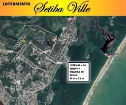 Lotes em SetibaVille - 2 lotes de esquina na rua principal- Guarapari