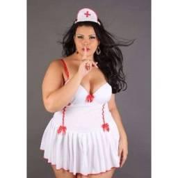 Título do anúncio: Fantasia Enfermeira Emergência Plus Size - Tamanho 46 - 48