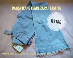 Calça jeans Flare Zara | Tam: 36 [modelo feminino]