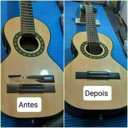 Violões, violas, guitarras, baixo, cavaquinho e banjo