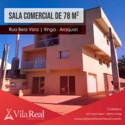 Sala comercial de 78.43 m² no bairro Itinga, em Araquari-SC
