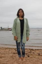 Casaco feito à mão (tricot)
