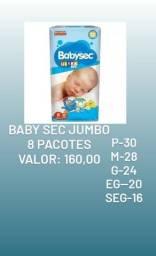Kit 8 Pacotes Atacado Fralda Descartavel BabySec Galinha Pintadinha