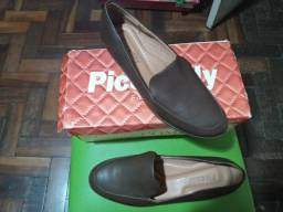 Sapato Feminino NOvO Social Baixo Marrom Piccadilly - 36