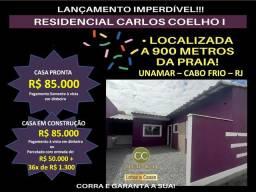 J+541 LANÇAMENTO EXCLUSIVO  - RESIDENCIAL CARLOS COELHO I EM UNAMAR