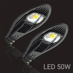 Luminária Pública LED 50w prova dágua