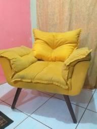 Vende-se poltrona sofá amarelo