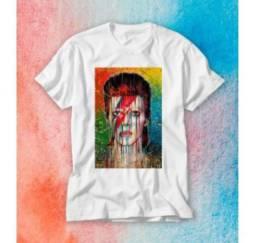 Camiseta Baby Look - David Bowie - XG