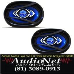 Alto Falante Hurricane Quadriaxial 6x9 Flat 180w Rms Carro Som audionet